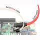 Cable sata Delock Câble SATA FLEXI 6 Go/s 20 cm en métal blanc - 39901