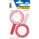 Herma 15446 Permanent Rouge, Blanc 6pièce(s) étiquette