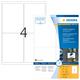 Herma 9539 étiquette auto-collante White Rectangle 160 pc(s)