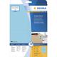 Herma 4563 étiquette auto-collante Bleu Rectangle 80 pièce(s)