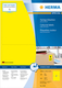 Herma 4565 étiquette auto-collante Yellow Rectangle 200 pc(s)