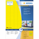 Herma 4237 étiquette auto-collante Yellow Rounded rectangle