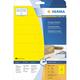 Herma 4551 étiquette auto-collante Jaune Rectangle 320 pièce(s)