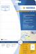 Herma 4586 étiquette auto-collante Transparent Rectangle aux