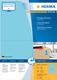 Herma 4568 étiquette auto-collante Bleu Rectangle 200 pièce(s)