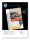 HP Canevas mat professionnel 100 feuilles/A3/297 x 420 mm