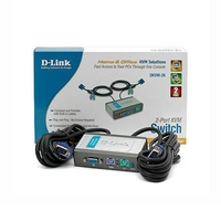 Dlink DKVM-2K, Couleur : Blanc (Switch KVM)