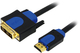 Hitechpc CHB3105 5m HDMI DVI-D Noir, Bleu câble vidéo et