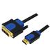 Hitechpc CHB3102 2m HDMI DVI-D Noir, Bleu câble vidéo et
