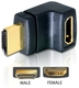 Delock HDMI Stecker > HDMI Buchse 90° oben HDMI 1.3 HDMI 1.3 Noir