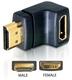 Delock HDMI male > HDMI female 90° down