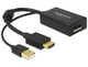 Delock 0.245m HDMI+USB2.0-A/DisplayPort