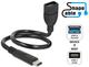 Delock 0.35m, USB2.0-C/USB2.0-A 0.35m USB C USB A Noir