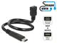 Delock 0.35m, USB2.0-C/USB2.0 Micro-B 0.35m USB C Micro-USB B Noir