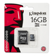 Kingston 16Gb microSDHC 16Go MicroSDHC Flash Classe 4 mémoire flash
