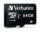Verbatim 64GB microSDXC (Adapt) 64Go MicroSDXC Classe 10 mémoire