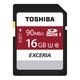 Toshiba EXCERIA N302 N302 SDHC 16GB 16Go SDHC UHS-I Classe 10