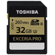 Toshiba 32 GB Exceria PRO 32Go SDHC UHS Classe 3 mémoire flash