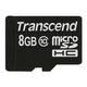Transcend TS8GUSDC10 8Go MicroSDHC Classe 10 mémoire flash