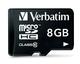 Verbatim 8GB microSDHC 8Go MicroSDHC Classe 10 mémoire flash