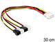 Delock 83343 Interne 0.3m Molex (4-pin) Multicolore câble