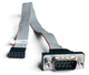 Shuttle H-RS232 0.32m 9-p Sub-D M 10-p RS-232 F Noir, Gris câble