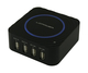 LC-Power LC-CH-USB-QI 480Mbit/s Noir, Bleu hub & concentrateur
